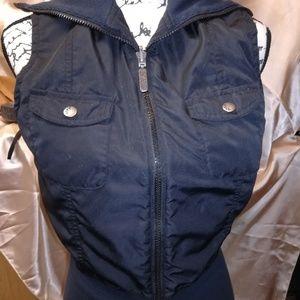 Black reversible vest